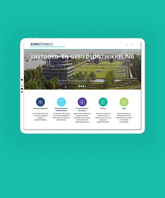 Akro Consult corporate website