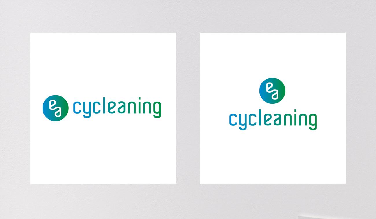 Cycleaning logo en beeldmerk