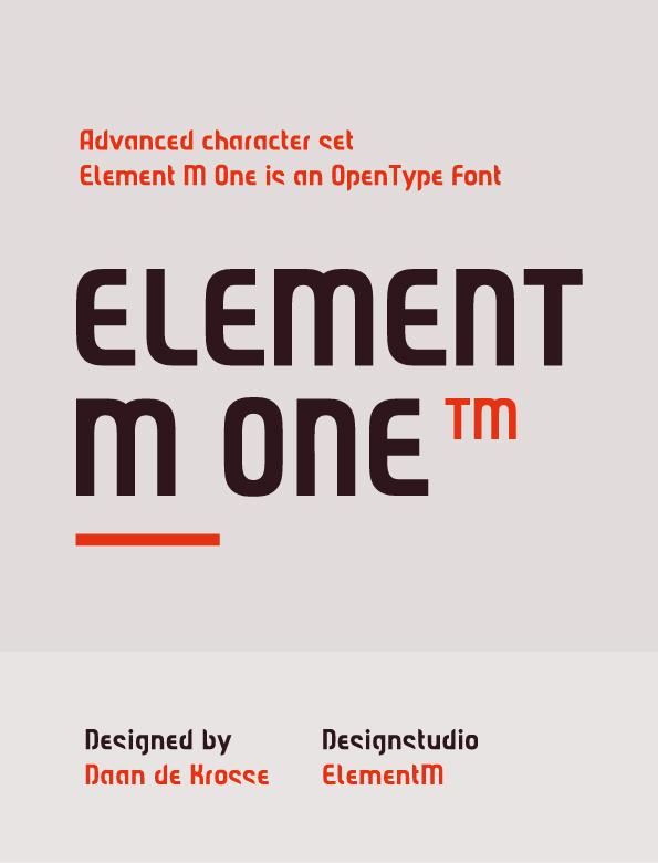 Font Element M One